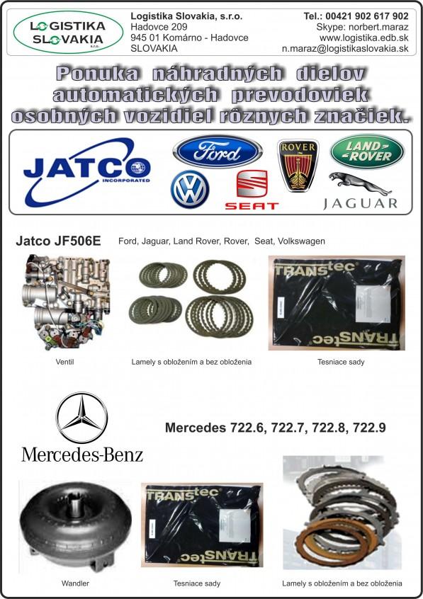 Prevodovky JATCO MB 2015